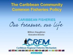 The Caribbean Community Common Fisheries Policy CARIBBEAN FISHERIES