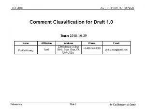 Oct 2018 doc IEEE 802 11 181796 r