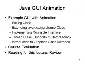 Java GUI Animation Example GUI with Animation Sailing