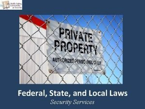 Federal State and Local Laws Security Services Copyright