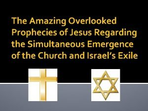 The Amazing Overlooked Prophecies of Jesus Regarding the