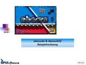 abacus 4 u Abacus IEEE Beispielrechnung 362021 Auswahl