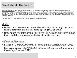Worksheet the heart Note to instructors This worksheet