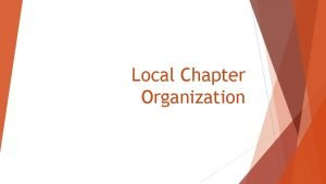 Local Chapter Organization Cocurricular Business Administration Standards IT