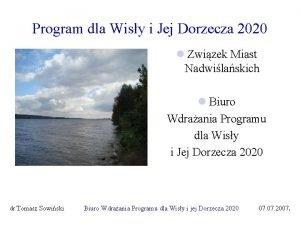 Program dla Wisy i Jej Dorzecza 2020 l