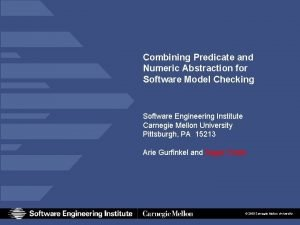 Combining Predicate and Numeric Abstraction for Software Model