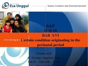 KKP ICD10 BAB XVI Certain condition originating in