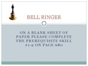 BELL RINGER ON A BLANK SHEET OF PAPER