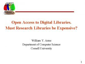 Open Access to Digital Libraries Must Research Libraries