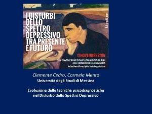 Clemente Cedro Carmela Mento Universit degli Studi di