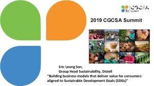 2019 CGCSA Summit Eric Leong Son Group Head