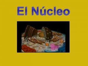 El Ncleo NCLEO CARACTERSTICAS GENERALES Orgnulo principal de