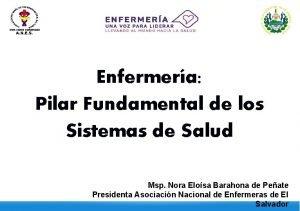 Enfermera Pilar Fundamental de los Sistemas de Salud