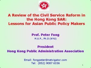A Review of the Civil Service Reform in