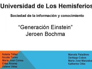 Universidad de Los Hemisferios Sociedad de la informacin