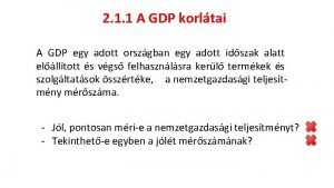 2 1 1 A GDP korltai A GDP