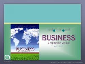 Ferrell Hirt Ferrell BUSINESS A CHANGING WORLD EIGHTH