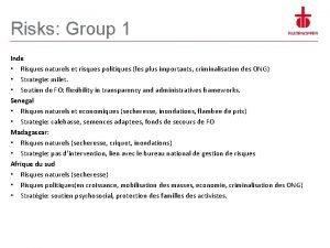 Risks Group 1 Inde Risques naturels et risques