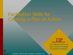 Facilitation Skills for Creating a Plan of Action
