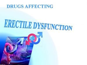 DRUGS AFFECTING DRUGS AFFECTING ILOs By the end