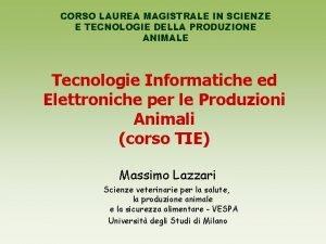 CORSO LAUREA MAGISTRALE IN SCIENZE E TECNOLOGIE DELLA