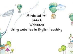 Minda safitri 04474 Websites Using websites in English