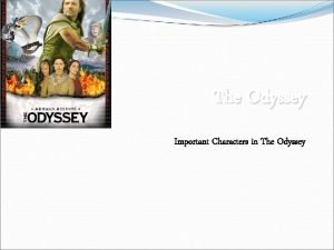 The Odyssey Important Characters in The Odyssey Book