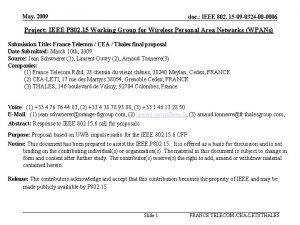 May 2009 doc IEEE 802 15 09 0324
