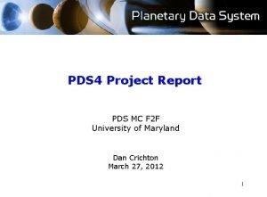 PDS 4 Project Report PDS MC F 2