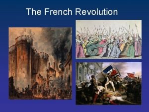The French Revolution The Old Regime or Old