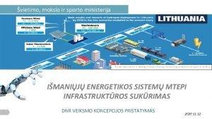vietimo mokslo ir sporto ministerija IMANIJ ENERGETIKOS SISTEM