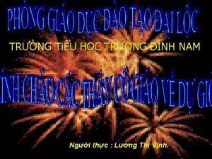 TRNG TiU HC TRNG NH NAM Ngi thc