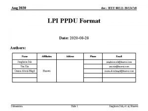 Aug 2020 doc IEEE 802 11 201347 r