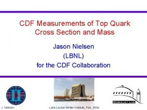CDF Measurements of Top Quark Cross Section and