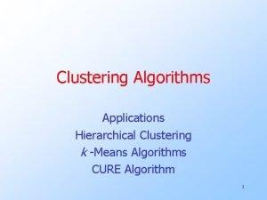Clustering Algorithms Applications Hierarchical Clustering k Means Algorithms