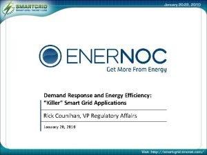 Demand Response and Energy Efficiency Killer Smart Grid