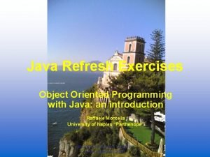 Java Refresh Exercises Object Oriented Programming with Java