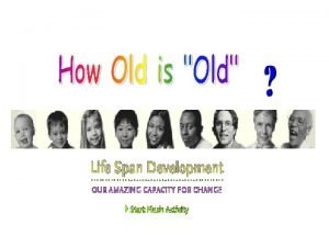 Opinions about the older people 1 Most older