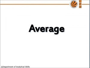 Average Q 1 The average of first 50