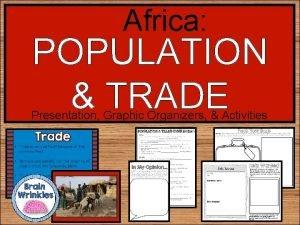 Africa POPULATION TRADE Presentation Graphic Organizers Activities STANDARDS