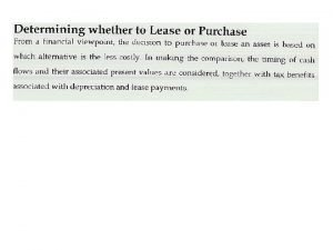 A finance lease or capital lease is a