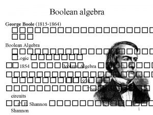 Boolean Algebra Boolean Algbera is a mathematical Model