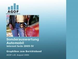 Sonderauswertung Automobil internet facts 2005 IV Graphiken zum