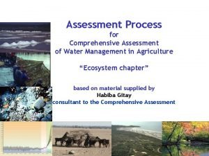 Assessment Process for Comprehensive Assessment of Water Management