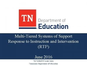MultiTiered Systems of Support Response to Instruction and