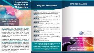 Programa de formacin en Sintergtica Formacin impartida por