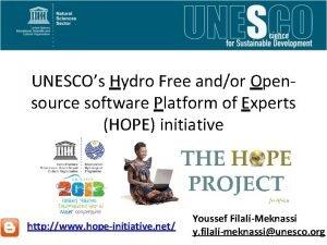 UNESCOs Hydro Free andor Opensource software Platform of