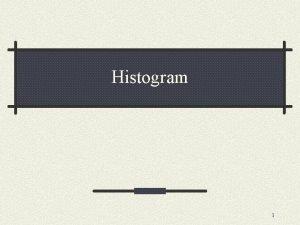 Histogram 1 Histogram informasi penting mengenai isi citra
