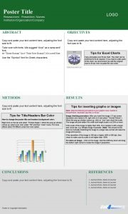 Poster Title LOGO Researchers Presenters Names InstitutionOrganizationCompany ABSTRACT