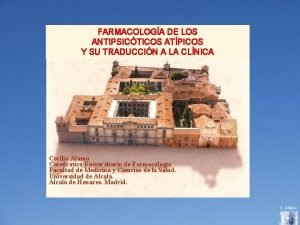 FARMACOLOGA DE LOS ANTIPSICTICOS ATPICOS Y SU TRADUCCIN